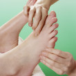Detail woman having foot massage — Stock Photo