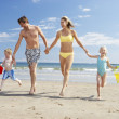 Stock Photo: Family on beach vacation