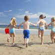 Stock Photo: Children on beach vacation