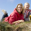 Foto de Stock  : Mother and daughter outdoors