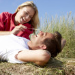 Stock Photo: Romantic couple outdoors