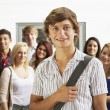 Stock Photo: Students in college