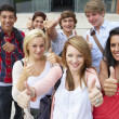 Students outside college — Stock Photo