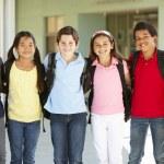 Pre teen children at school — Stock Photo