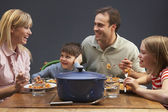 Family Enjoying Meal Together At Home — Stock Photo