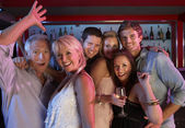 Group Of Having Fun In Busy Bar — Stock Photo