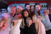 Group Of Having Fun In Busy Bar — Foto Stock