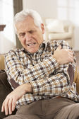 Senior Man Suffering Cardiac Arrest At Home — 图库照片