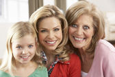 Portrait Of Grandmother,Mother And Daughter — Stock Photo