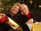 Senior Couple Returning After Christmas Shopping Trip — Stock Photo