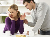 Couple Having Argument At Home — Stock Photo