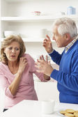 Senior Couple Having Argument At Home — Stock Photo