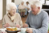 Senior Couple Enjoying Meal Together — Fotografia Stock