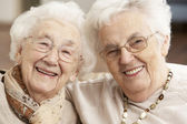 Two Senior Women Friends At Day Care Centre — Stock Photo