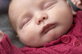 Portrait Of Sleeping Newborn Baby Girl — Stock Photo