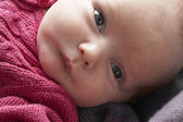 Portrait Of Newborn Baby Girl — Stock Photo