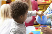 Children in nursery — Stock Photo
