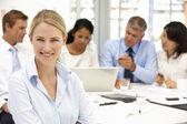 Recruitment office meeting — Stock Photo
