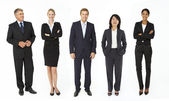 Mixed group of business men and women — Stock Photo