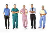 Mixed group of medical professionals — Stock Photo