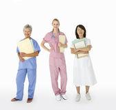 Grupo mixto de profesionales de la salud femeninos — Foto de Stock