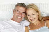 Mid age couple head and shoulders — Stock Photo