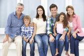 Familia multigeneración retratos al aire libre — Foto de Stock