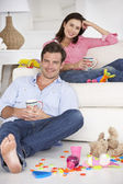 Parents enjoying a rest — Stock Photo
