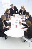 商务会议中混合的组 — 图库照片