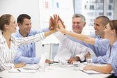 Colegas en reuniones de negocios — Foto de Stock