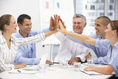Colleagues in business meeting — Foto Stock