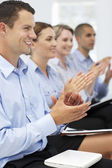 Group applauding business presentation — Stock Photo