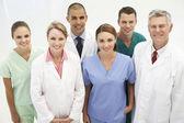 Blandad grupp av vårdpersonal — Stockfoto