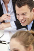 Young businessman in meeting — Photo