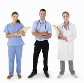 Portrait Of Medical Staff In Studio — Stock Photo