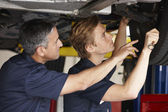 Mechanics at work — Stock Photo