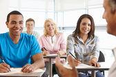 Handledare med klass med elever — Stockfoto