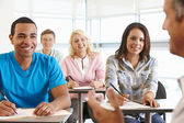 Tutor con classe di studenti — Foto Stock
