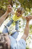 Child having fun at park — Stock Photo