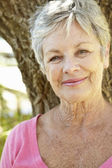 Portrait of senior woman — Stock Photo
