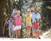 3 Generation family on country walk — Stock Photo
