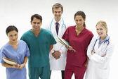 Grupp av vårdpersonal — Stockfoto