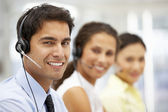 Businessman wearing headset — Stock Photo