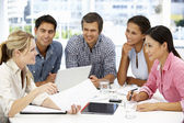 Mixed group in business meeting — Foto de Stock