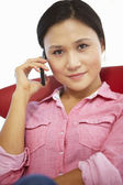 Young woman on the phone — Foto Stock
