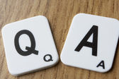 Q and A signs — Stock Photo