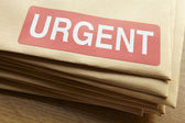 Urgent documents for despatch — Stock Photo