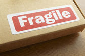 Fragile parcel for despatch — Stock Photo