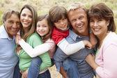 Familia generación multi al aire libre — Foto de Stock