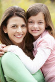 Portrait Hispanic mother and daughter — Stock Photo